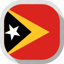 world, flag, east, timor, square, rounded icon
