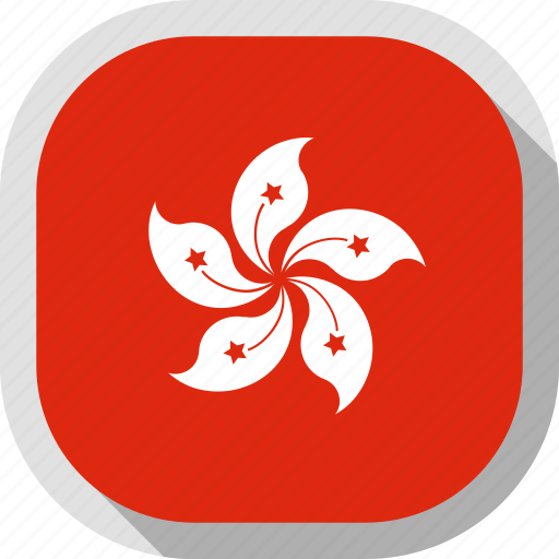 flag, hong, kong, rounded, square, world icon