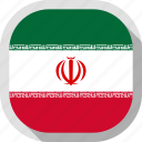 flag, iran, rounded, square, world icon