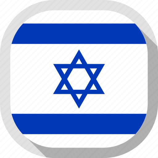 flag, israel, rounded, square, world icon