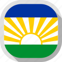 flag, lebowa, rounded, square, world icon