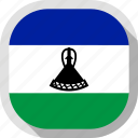flag, lesotho, rounded, square, world icon