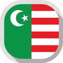 flag, mwali, rounded, square, sultanate, world icon