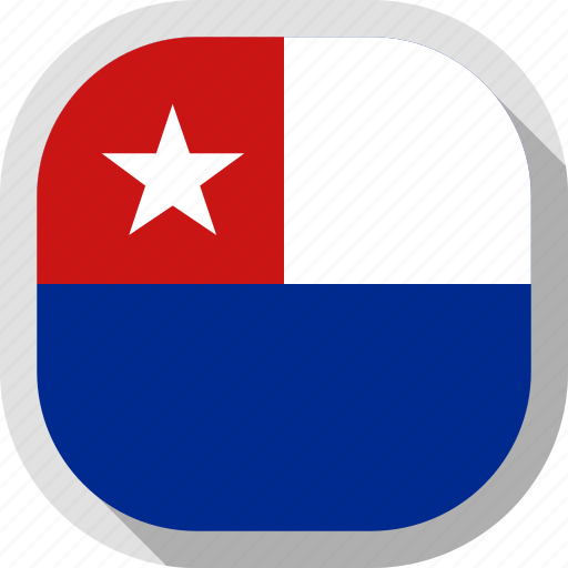 cuba, flag, jack, naval, rounded, square, world icon