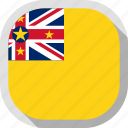 flag, niue, rounded, square, world icon