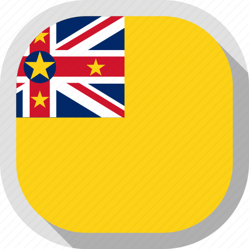 flag, niue, rounded, square, world icon