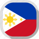 flag, philippines, world, rounded, square icon