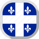 flag, quebec, rounded, square, world icon