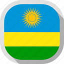 flag, rounded, rwanda, square, world icon