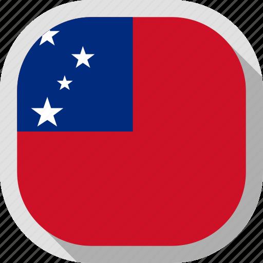 flag, rounded, samoa, square, world icon