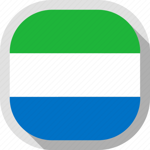 flag, leone, rounded, sierra, square, world icon
