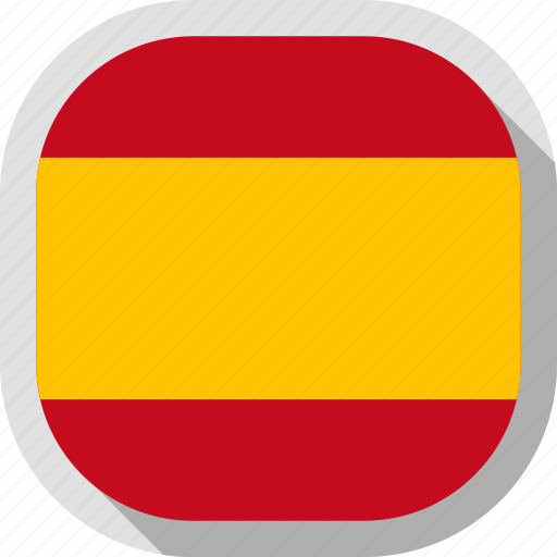 flag, rounded, spain, square, world icon