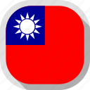 flag, rounded, square, taiwan, world icon
