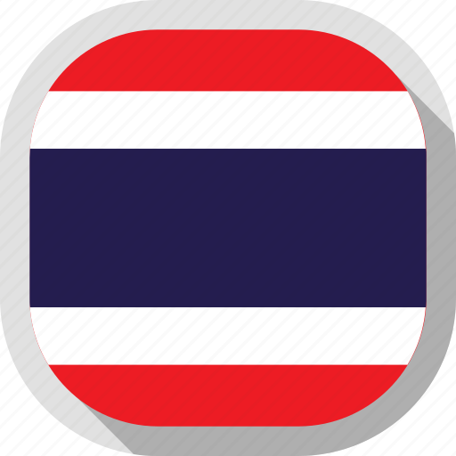 flag, rounded, square, thailand, world icon