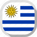 flag, rounded, square, uruguay, world icon