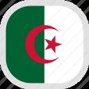 algeria, flag, world icon