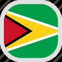 flag, guyana, world icon