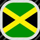 flag, jamaica, world icon