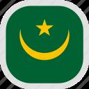 flag, mauritania, world