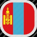 flag, mongolia, world icon
