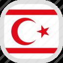 cyprus, flag, northern, world icon