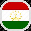 flag, tajikistan, world