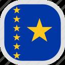 democratic, old, flag, world, congo, republic icon