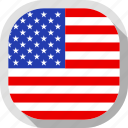 circle, country, flag, usa, rounded, square