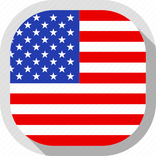 Country, circle, flag, usa, square, rounded icon