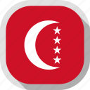 country, circle, anjouan, flag, square, rounded