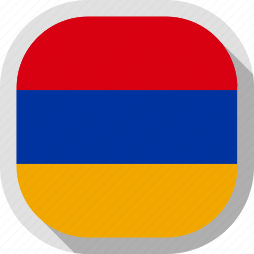 armenia, circle, country, flag, rounded, square icon