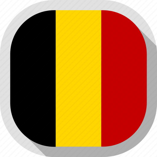 belgium, circle, country, flag, rounded, square icon