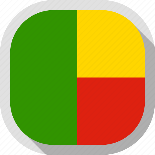 benin, circle, country, flag, rounded, square icon