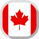 canada, circle, country, flag, rounded, square icon