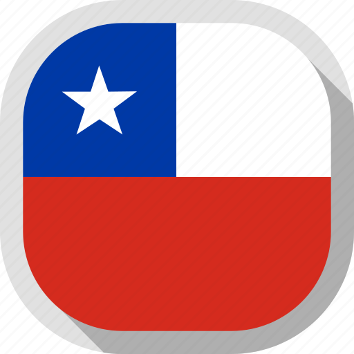 chile, circle, country, flag, rounded, square icon