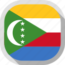 country, circle, flag, comoros, square, rounded
