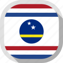 circle, country, curacao, flag, rounded, square icon