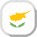 circle, country, cyprus, flag, rounded, square icon