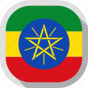 country, circle, flag, ethiopia, square, rounded