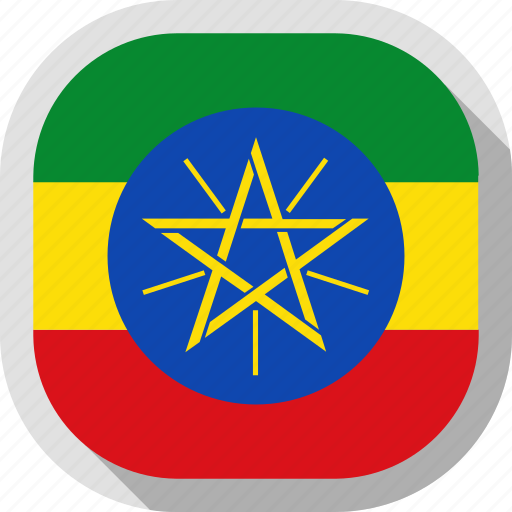 circle, country, ethiopia, flag, rounded, square icon
