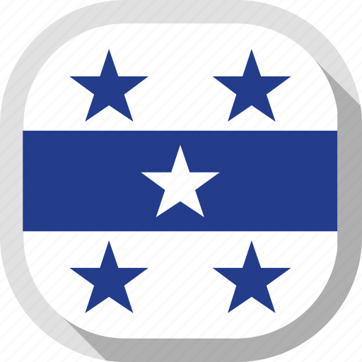 circle, country, flag, gambier islands, rounded, square icon