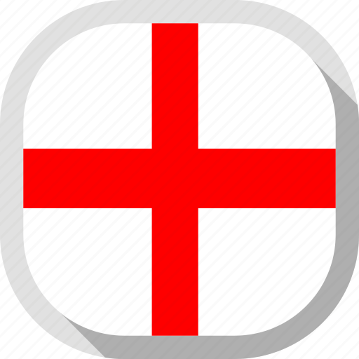 circle, country, flag, george's cross, rounded, square icon