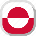 circle, country, flag, greenland, rounded, square icon