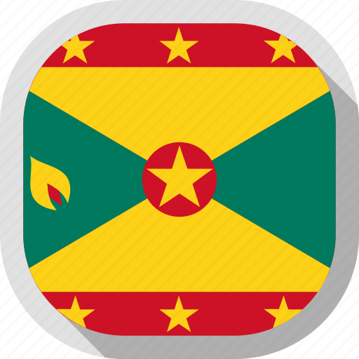 circle, country, flag, grenada, rounded, square icon