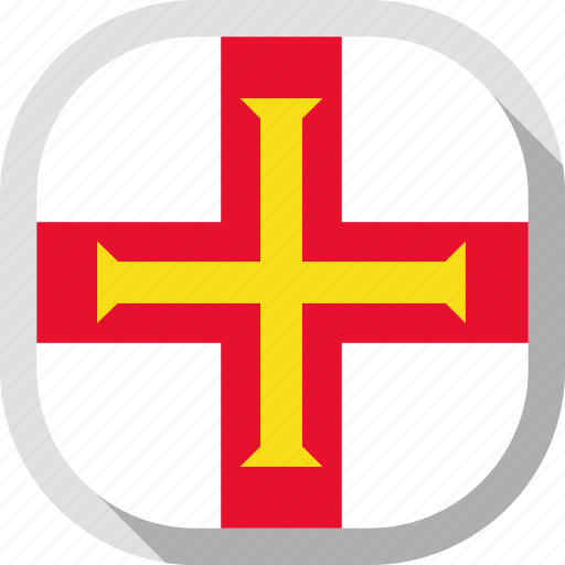 circle, country, flag, guernsey, rounded, square icon