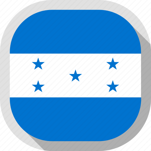 circle, country, flag, honduras, rounded, square icon