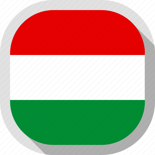 circle, country, flag, hungary, rounded, square icon