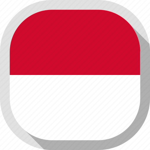 circle, country, flag, indonesia, rounded, square icon