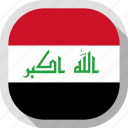 circle, country, flag, iraq, rounded, square icon