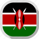 circle, country, flag, kenya, rounded, square icon